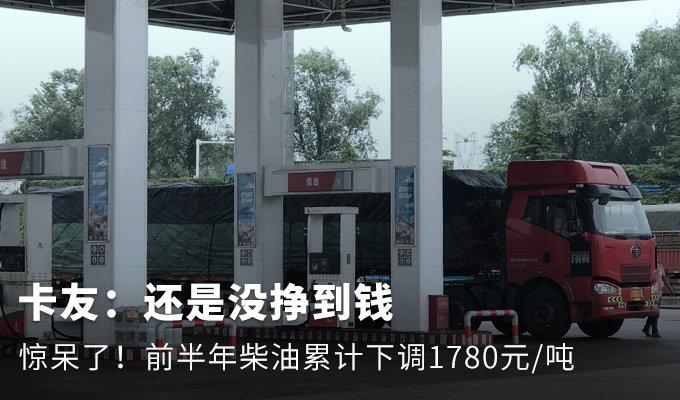 惊呆了!2020年柴油累计下调1780元/吨