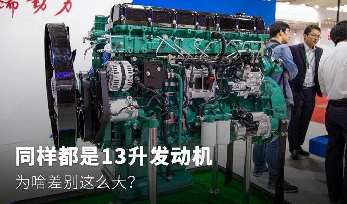 同样都是13升发动机,为啥差别这么大?