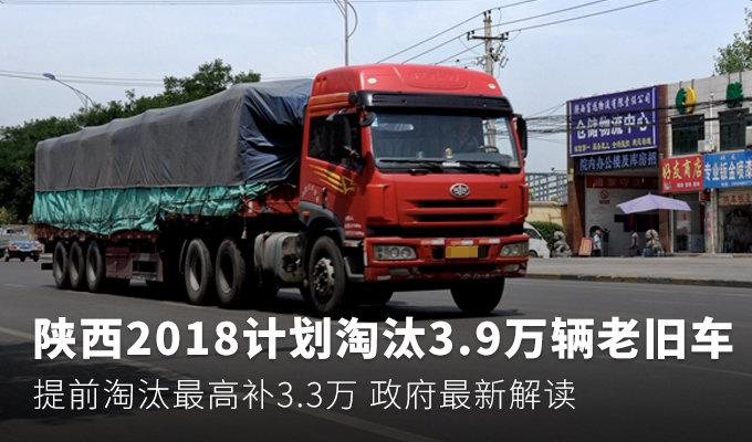 陕今年将淘汰3.9万老旧车 最高补3.3万