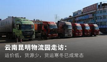 云南昆明物流園走訪:運價低,貨源少,貨運寒冬已成常態