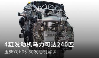 4缸機馬力240匹 玉柴YCK05-60動力解讀