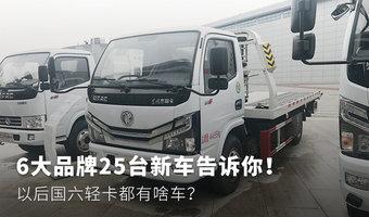 新車盤點:25臺6大品牌國六輕卡大集合