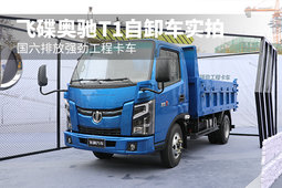 国六排放强劲工程卡车 飞碟奥驰T1自卸车实拍