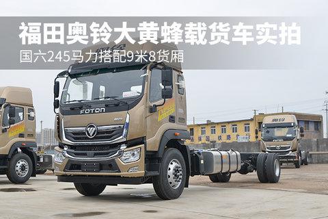 国六245马力搭配9米8货厢 福田奥铃大黄蜂载货车实拍