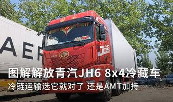 图解青汽JH6 8x4冷藏车 还有AMT加持!