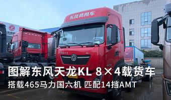 搭载465匹国六机 图解天龙KL 8×4载货车